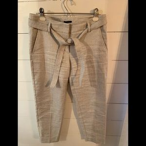Ankle length linen like pants